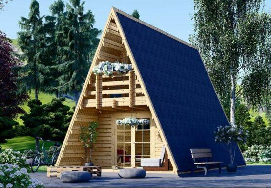 Chalet/Abri en forme deTIPI de 23 m² + 14 m² mezzanine
