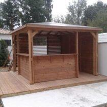 Abri Bar / Pool House Traité en THT de 12.25m² avec son comptoir