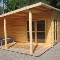 Chalet/Abri de 28m² avec sa terrasse couverte en bois massifs de 34mm