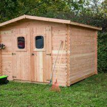 Abri 40 en bois THT de 5m² en madriers de 19mm avec couverture et plancher