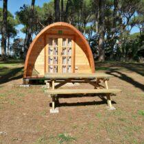 6 Abri Pod de 16 m2 en madrier en madriers massifs de 44 mm
