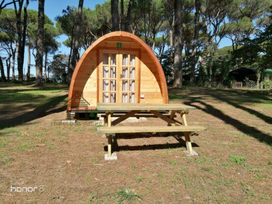 04 B Abri Pod de 12m² en madriers massifs de 44mm (3X4) avec sa couverture toiture