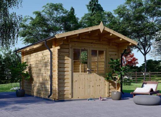 Abri/Chalet en bois de 9m² en madriers massifs de 34 mm