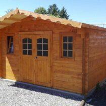 Abri 9-137/Chalet en bois de 19m² en madriers massifs de 42mm