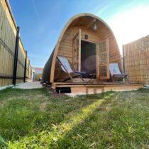 08 Abri Pod de 18 m2 en madriers massifs de 44 mm avec sa couverture toiture