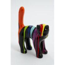 Statue chat debout design trash noir taille XS