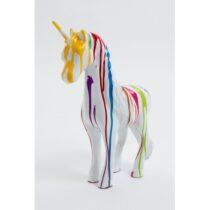 Statue licorne taille S design trash blanc 50 cm