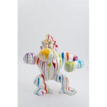 Statue gorille donkey kong taille M design trash blanc hauteur 80 cm