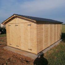 Garage 4 en panneaux de bois de 16mm pour 1 voiture de 15m²