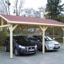 Carport bois 2 voitures, 22.85 m²
