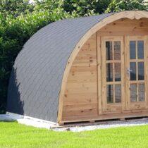 04 Abri Pod de 12m² en madriers massifs de 44mm (4X3) avec sa couverture toiture