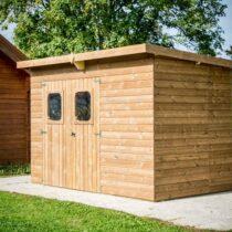 Abri de jardin bois THT  T Ep.19 mm, 5.2 m² avec sa couverture bac acier fabrication française