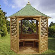 Kiosque pour terrasse ou balcon bois naturel