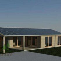Maison de 98m² en double madriers massifs de 43mm