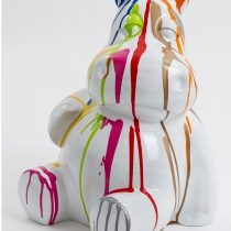 Statue hippopotame assis 45 cm coloris trash