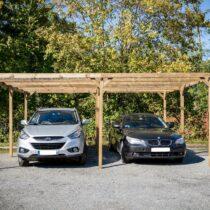 Carport 8-11 à toit plat de 30m² / Couverture toiture en PVC transparent
