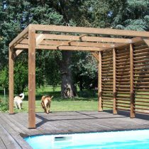Pergola bois traitée en  THT de 10.67 m²