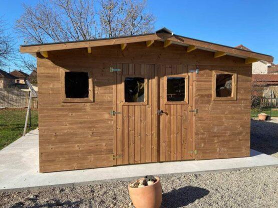 Abri 9-125 de jardin bois THT de 19 m²/15.68m² avec couverture en bac acier
