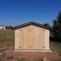 Garage 5 en panneaux de bois de 16mm pour 1 voiture de 15m²
