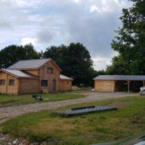 Maison » Boisserie » de 117m² en double madriers massifs de 44mm