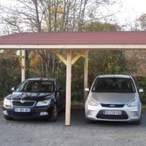 Carport 9-24 avec son toit mono-pente plus sa couverture toiture en bardeaux bitumés de 22m²
