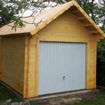 Garage 0-12 en bois de 24m² en madriers massifs de 60mm