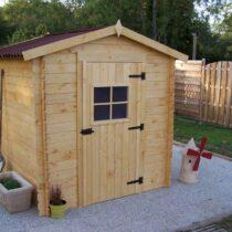 Abri 21 de jardin en bois de 4m² en madriers de 20mm