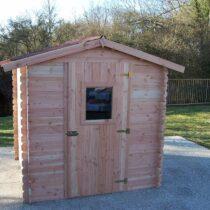 Abri 27 de jardin en bois douglas de 28mm de 4.28 m²