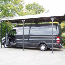 Carport 9-20 en aluminium pour 1 camping-car ou 1 camionnette ou 1 bateau  surface de 27,51 m2