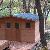 Abri 9-133 de jardin en bois THT de 23 m² avec couverture en bac acier