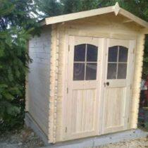 Abri 25 en bois de 4m² madriers de 28 mm avec sa couverture toiture avec plancher