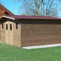 Abri 9-132 de jardin en bois THT de 23 m² avec couverture en plaques ondulées