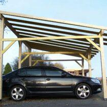 Carport 8 en bois pour 2 voitures de 20.79 m²
