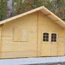 Abri 9-160/Chalet en bois Epicéa de 35.34m²/26.89m² en madriers massifs de 42mm
