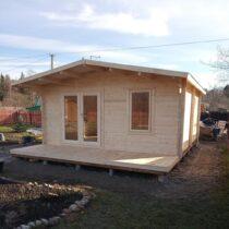 Abri 44-16 de 16m² avec sa couverture en tuiles bitumées/Plancher abri+ terrasse