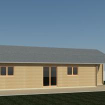 Maison 6 De 125m² Avec Terrasse de 8.5m² en double madriers massifs de 44mm