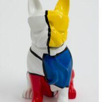 Statue bouledogue Français avec écharpe 35 cm 3