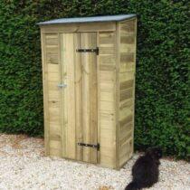Armoire de jardin 4 en bois de 0,71 m2 mural avec plancher