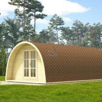 9 Abri Pod de 28 m2 en madriers massifs de 44 mm