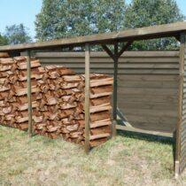 Abri 17 Range-bûches mural autoclavé très grand volume 10 stères de bois
