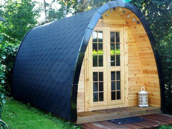 Abri Pod de camping de 14m² pour 4 personnes (2 chambres)
