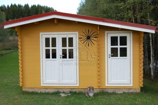Abri Chalet 44-13 de jardin 13,5m² (4,5x3m), 44mm