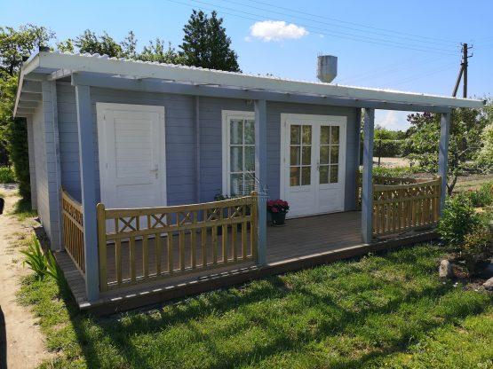 Abri Chalet 44-24 de jardin 24m² (6x4m), 44mm avec sa couverture en stock à toit monopente