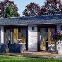 Maison «Lavaud» En Double Madriers Bois Massif 44+44mm de 70m²