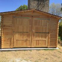 Garage 0-11 en bois de 24m² en madriers massifs de 44mm Destockage